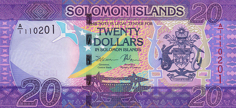 P34 Solomon Islands 20 Dollars Year ND (2017)
